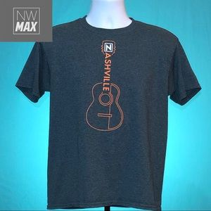 Nashville T-Shirt Guitar Kids Dark Gray XL